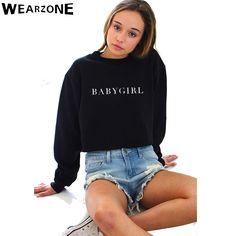 Harajuku Women Hoodies Sweatshirts 2016 New Casual Baby Girls Printed Female Long Sleeved Hoodie Patchwork Sleeved Street Tops