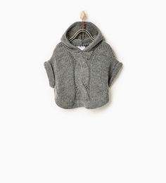 Hooded poncho-SWEATERS AND CARDIGANS-Baby girl-Baby | 3 months - 3 years-KIDS | ZARA United States                                                                                                                                                                                 Mais