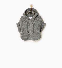フード付きポンチョ-カ-ディガン & セーター-ベビーガール (3ヶ月 - 3歳)-キッズ | ZARA 日本