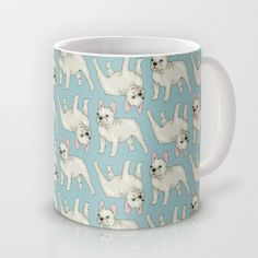 French Bulldog pattern Mug by neonflower*