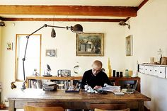 <p>Selby traveled the world for three years to complete the book. Here, the studio of Japanese headpiece artist Katsuya Kamo.</p>