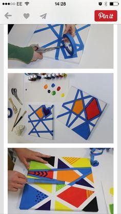 Masking tape + paint= a masterpiece