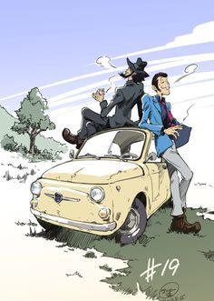 lupin the third Studio Ghibli, Manga Mania, Lupin The Third, Gundam Art, Ghibli Movies, Car Drawings, Anime Figures, Comic Book Characters, Geek Culture