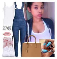 """Overalls"" by saucinonyou999 ❤ liked on Polyvore featuring American Vintage, NIKE, H&M and Prada"