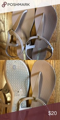 Athleta Ipanema sandals Athleta Ipanema sandals, very light weight. Worn only once. It's a bit too big for me. Made out of silicone so you can walk for a long time. Made in Brazil Athleta Shoes Sandals
