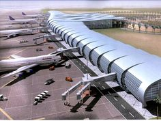 Futuristic Architecture, Concept Architecture, Amazing Architecture, Bus Station, Train Station, Egypt Airport, Mysterious Places On Earth, Places In Egypt, Airport Design