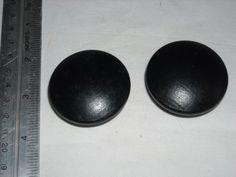 "Two Black Drawer / Cabinet Door Handles- New 3"" diameter ~ for sale at Wenzel Thrifty Nickel eCRATER store"