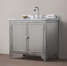 1930s Laboratory Stainless Steel Single Vanity Sink