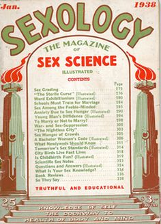Sexology Magazine cover.