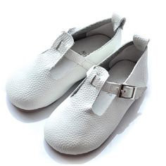 Buy White Leather Mary Jane Flower Girls First Communion Event Shoes SKU-133104