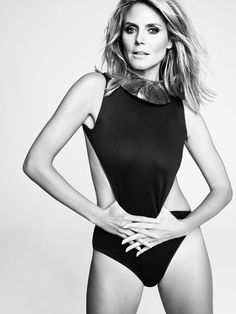 Storm Trooper. Heidi Klum's Jan 2013 Cover shoot for Marie Claire