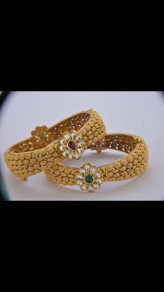 Gold Bangles Design, Gold Earrings Designs, Gold Jewellery Design, Gold Jewelry, Silver Rakhi, Indian Jewelry, Wedding Jewelry, Rakhi Design, Bangle Bracelets