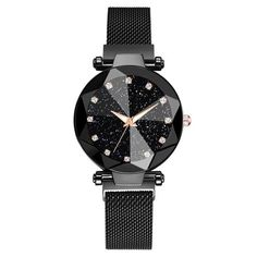 Luxury Starry Sky Stainless Steel Mesh Bracelet Watches For Women Crystal Analog Quartz Wristwatches Ladies Sports Dress Clock - Best of Wallpapers for Andriod and ios Mesh Bracelet, Bracelet Watch, Bracelets, Mesh Armband, Apple Watch Wristbands, Sky Watch, Most Beautiful Wallpaper, Swiss Army Watches, Sky Design