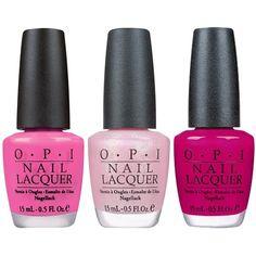 Opi Nail Polish Set (1 120 UAH) ❤ liked on Polyvore featuring beauty products, nail care, nail polish, nails, beauty, makeup, pink, filler, opi nail color and opi nail varnish