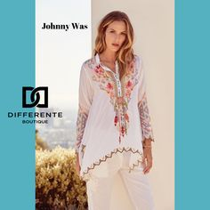 JohnnyWas knows how to do summer. This embroidered top is lightweight and feels amazing to wear even on hot days. New Farm, Johnny Was, Hot Days, Feels, Kimono Top, Cover Up, Velvet, Boutique, Luxury
