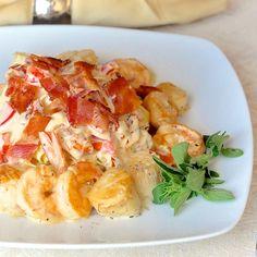 Sundried Tomato and Seafood Linguine