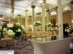 King's Hall in The George Hotel Edinburgh looking lovely - http://www.thegeorgehoteledinburgh.co.uk/weddings-events/