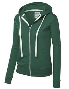 MBJ WSK954 Womens Active Fleece Zip Up Hoodie Sweater Jacket S HUNTERGREEN - http://our-shopping-store.com