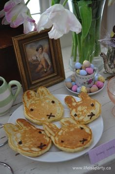 Bunny Rabbit Breakfast: Bunny themed foods for a special breakfast, perfect for spring, Easter, or a bunny themed birthday party.
