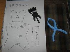 猫クリップ型紙