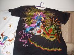 Imagen camiseta de carnaval de barranquilla - grupos.emagister.com Nail Art And Spa, Craft Projects, Barbie, Lily, Embroidery, Sewing, Crochet, Mens Tops, Women