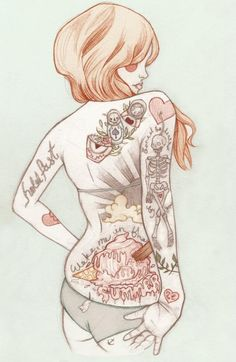 Tattoo illustrations by Liz Clements   Cuded