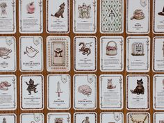 Grimm's Forest Playing Cards Detail Card Games, Game Cards, Grimm, Design Crafts, Playing Cards, Detail, Legends, Blood, Lisa