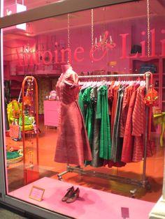 Window display | Antoine & Lily | Rack rt up to window display