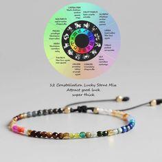 e7fbfa44d7c828 12 Constellation Lucky Bracelet 3mm Beads Adjustable Bohemia Bracelets |  eBay Stone Bracelet, Bracelet Clasps