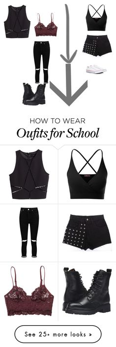 """Bored and at school oh and kill me i have math today yay lol"" by shawnmendeslover-841 on Polyvore featuring Doublju, Converse, Boohoo, Monki, H&M and Frye"