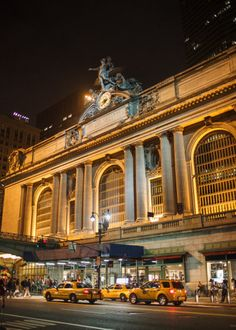 Grand Central Station, Taxi Cabs ~ NYC