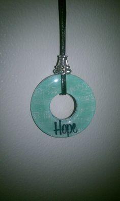 """hope"" washer necklace"