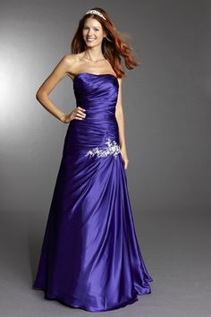 Lovely full length purple prom dress by Tiffanys.