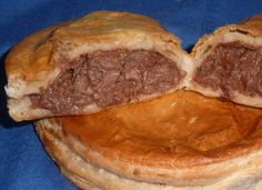 Scrumptuous meat pie.  Heavy! But delicious.