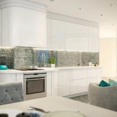 Apartman Szocsiban Kitchen Dinning Room, Kitchen Cabinets, Home Decor, Decoration Home, Room Decor, Cabinets, Home Interior Design, Dressers, Home Decoration