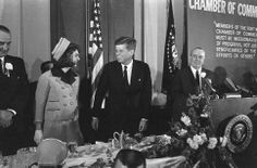 Their last hours of glory - November 22, 1963 - Ft. Worth, Texas - a Chamber of Commerce breakfast.