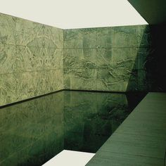 green courtyard from Mies van der Rohe's angle on The Barcelona Pavilion from Posting from Barcelona Pavilion, Shades Of Green, Design Projects, Tile Floor, Hardwood Floors, Around The Worlds, Interior Design, Architecture, Building