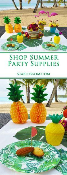summer   party   pineapple   flamingo   decorations   tutti frutti   birthday   tropical