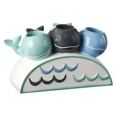 Whale Watch Toothbrush Holder - cute for the girl's mermaid bathroom Whale Bathroom, Mermaid Bathroom, Bathroom Kids, Kids Bath, Bathroom Stuff, Mermaid Room, Downstairs Bathroom, Home Decor Accessories, Bathroom Accessories