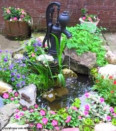 How to make an outdoor water fountain and garden.