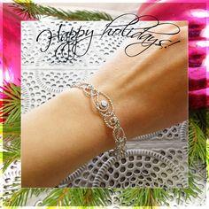 Have a Sparkling Christmas Season! Lace Bracelet, Diamond Bracelets, Bracelet Sizes, Gold Bangles, Gold Filigree, 18k Gold, Solid Gold, White Gold, Bracelet Designs