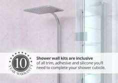 Stylish and easy to fit shower panels. Revamp your bathroom with our hygienic and waterproof shower panels. Adhesive, Bathroom Scale, Shower Wall Kits, Shower Cubicles, Waterproof Shower Wall Panels, Wall Panels, Wall, Home Decor, Wall Paneling