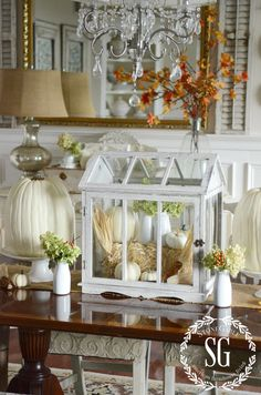 Fall-Dining Room-table-greenhouse-stonegableblog.com