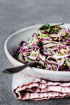 Soba Noodle Salad | TENDING the TABLE - 100% buckwheat soba. more salad, less soba