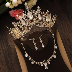 jewelry bridal Bridal Jewelry Set Rhinestone Crystal Gold Tiara Silver Crown Earrings for Wedding Necklace Set Accessories Bride Luxury Jewelry Wedding Necklace Set, Bridal Necklace, Wedding Earrings, Wedding Headband, Bridal Tiara, Bridal Crown, Luxury Jewelry, Custom Jewelry, Jewelry Logo