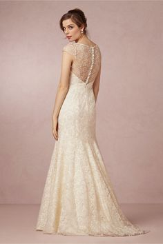 Leila Gown from BHLDN. Love the details, especially the buttoned down back!