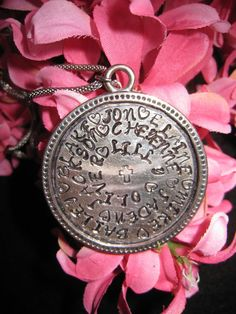 grandmother's statement necklace hand stamped by bellefamille, $40.00