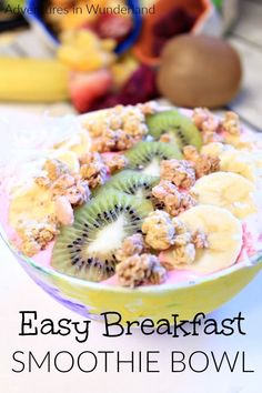 easy breakfast smoothie bowl #breakfast #breakfastrecipes #breakfastlovers #smoothies #smoothiesaturday #smoothiebowl #easyrecipe