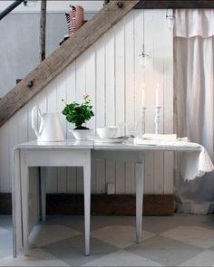 source:Solgården  ~ love the painted floors
