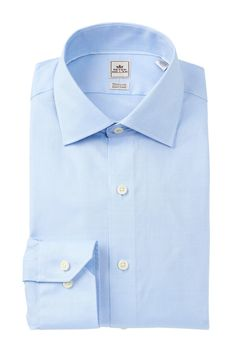 Textured Solid Slim Fit Dress Shirt